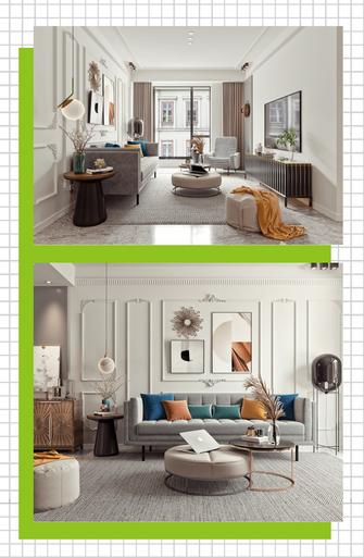富裕型90平米法式风格客厅装修效果图