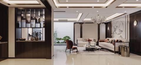 140平米复式中式风格客厅设计图