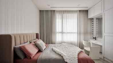 豪华型110平米三室一厅法式风格卧室欣赏图