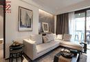 10-15万110平米三室两厅现代简约风格客厅设计图