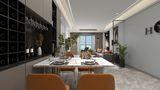富裕型100平米三室两厅现代简约风格餐厅图