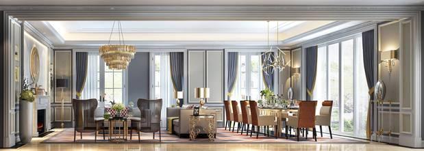豪华型140平米欧式风格客厅效果图