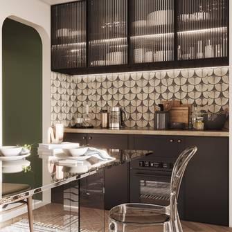 富裕型100平米法式风格厨房设计图
