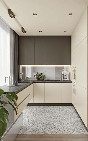豪华型140平米三室一厅现代简约风格厨房图片大全