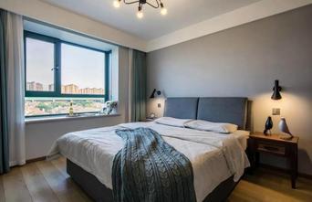 富裕型110平米复式北欧风格卧室装修效果图