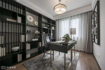 130平米三室一厅中式风格书房图