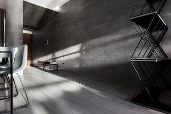 130平米三室一厅工业风风格餐厅装修效果图