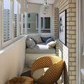 经济型60平米一居室北欧风格阳台装修图片大全