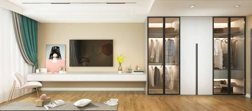 5-10万120平米三室两厅现代简约风格卧室装修案例