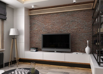 经济型50平米小户型工业风风格客厅装修效果图