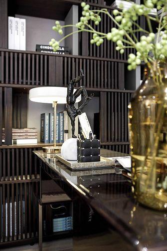 富裕型130平米三室一厅新古典风格书房图