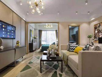 富裕型60平米公寓混搭风格客厅欣赏图
