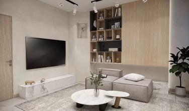 3万以下90平米三室两厅北欧风格客厅图