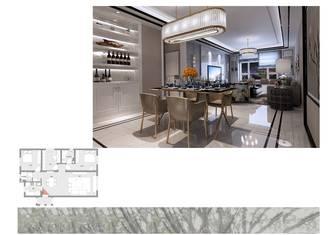 80平米三港式风格餐厅装修案例