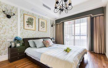 10-15万110平米三室一厅田园风格卧室装修图片大全