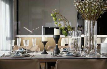 富裕型110平米三室两厅轻奢风格餐厅装修案例