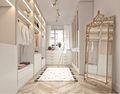富裕型80平米三室一厅法式风格衣帽间图片