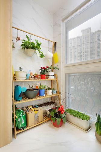 豪华型50平米一室一厅现代简约风格阳台图片大全
