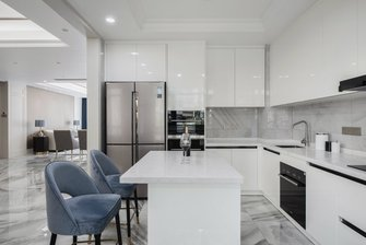 130平米一室一厅美式风格厨房设计图