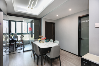 富裕型140平米四室两厅现代简约风格餐厅装修案例