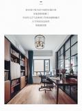 富裕型三室两厅混搭风格书房图