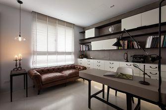 富裕型120平米三室一厅工业风风格书房欣赏图