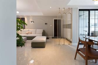 5-10万120平米三室两厅现代简约风格走廊设计图