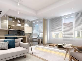 豪华型140平米三室一厅日式风格书房欣赏图