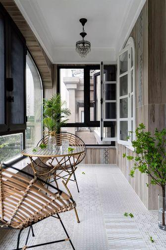 富裕型130平米三室两厅美式风格阳台装修效果图