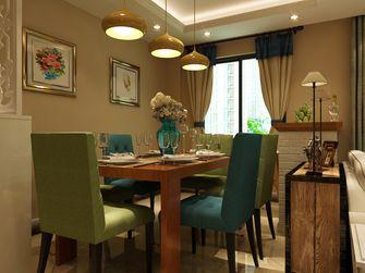 富裕型80平米三室三厅欧式风格餐厅图