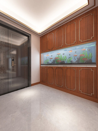 140平米三中式风格玄关图片