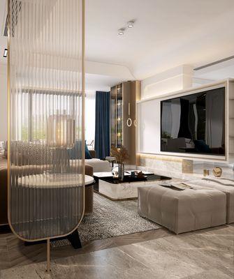 20万以上140平米复式轻奢风格客厅图
