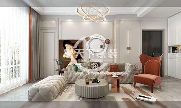 80平米一室一厅美式风格客厅装修图片大全
