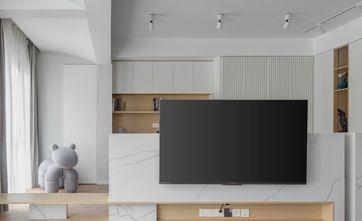 富裕型90平米三室一厅现代简约风格客厅图