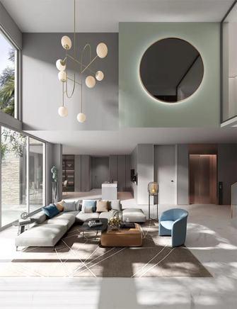 140平米四室一厅现代简约风格客厅图片大全