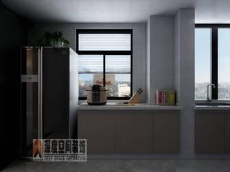 5-10万90平米三室两厅轻奢风格厨房图