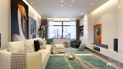 15-20万90平米三室两厅现代简约风格客厅装修案例