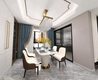 富裕型140平米四室两厅美式风格餐厅图片