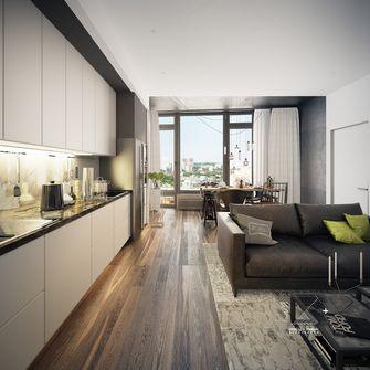 60平米一居室工业风风格客厅装修效果图