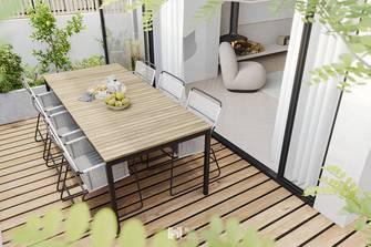 60平米一居室现代简约风格阳台图片大全
