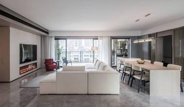 20万以上140平米四室一厅现代简约风格餐厅欣赏图