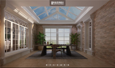 20万以上140平米别墅地中海风格阳光房图