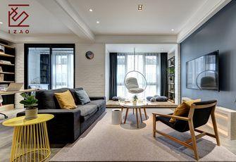 富裕型120平米三室两厅北欧风格客厅装修图片大全