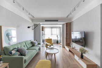 富裕型90平米三室两厅北欧风格客厅欣赏图