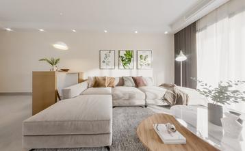 富裕型四室两厅日式风格客厅装修效果图