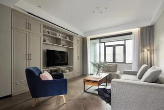 140平米四室一厅混搭风格客厅图