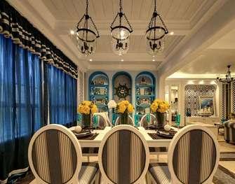 110平米三地中海风格餐厅图片