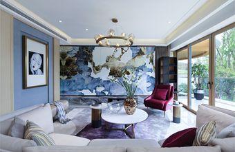 富裕型120平米三室两厅轻奢风格客厅装修案例