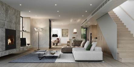 15-20万110平米三室一厅工业风风格客厅装修效果图
