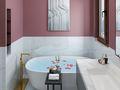 140平米四室三厅法式风格卫生间设计图